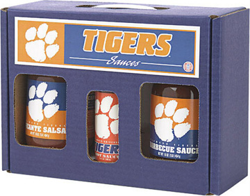 Clemson Tigers Tailgate Party Pack - Hot Sauce, Salsa, and BBQ Sauce
