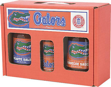 Florida Gators Tailgate Party Pack - Hot Sauce, Salsa, and BBQ Sauce